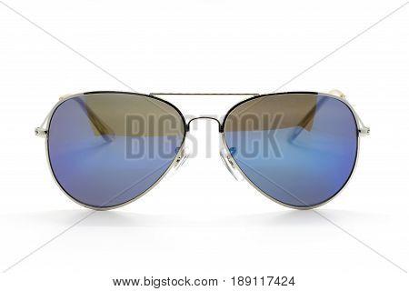 Modern fashionable sunglasses isolated on white background Glasses