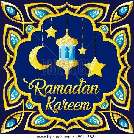 traditional ramadan kareem month celebration greeting card design, holy muslim culture, islamic religion mubarak eid background, islam holiday ramazan vector illustration. poster