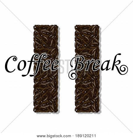 Illustration of coffee as a symbol for a coffee break.