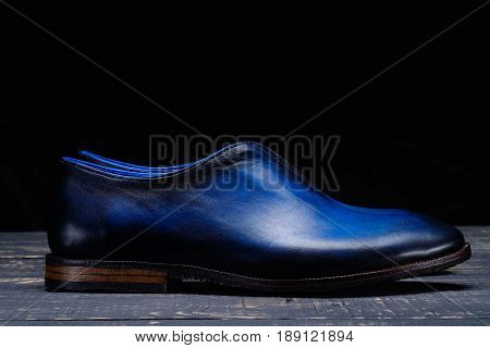 New Classic stylish shoes for men on black background