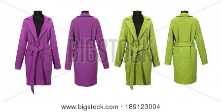Green coat and pink coat