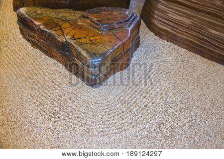 Japanese zen rock garden abstract texture background