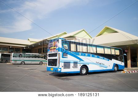 Srithawong Tour Company Bus Route Bangkok And Chiangmai.