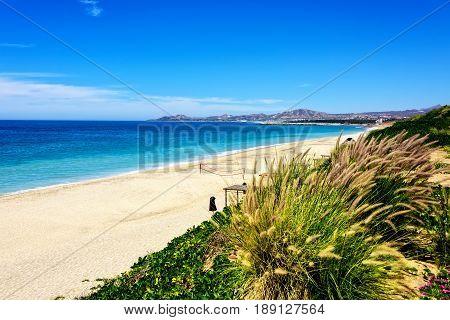Stretch of Los Cabos Beach in Los Cabos Mexico