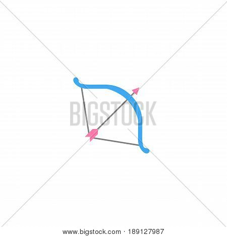 Cupid bow solid icon, Valentine's day, love concept, vector graphics, a colorful linear pattern on a white background, eps 10.