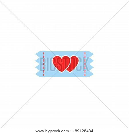 Ticket for sweethearts solid icon, Valentine's day discount, love concept, vector graphics, a colorful linear pattern on a white background, eps 10.