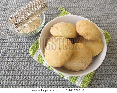 Fresh homemade fingerfood rolls with parmesan cheese