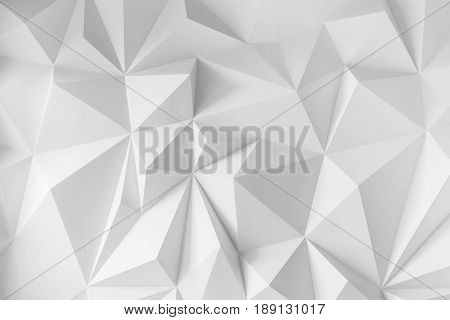 Abstract background of polygons on white background. White texture.
