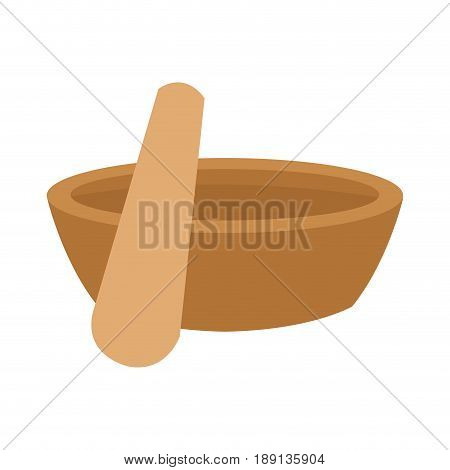mortar and pestle icon image vector illustration design