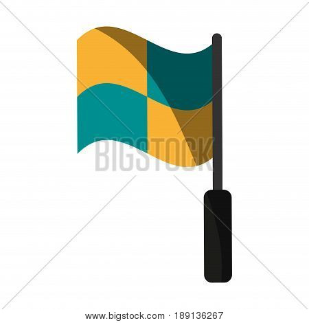 linesman referee flag soccer or football  related icon image vector illustration design
