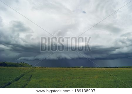 Storm Clouds Over The Valley