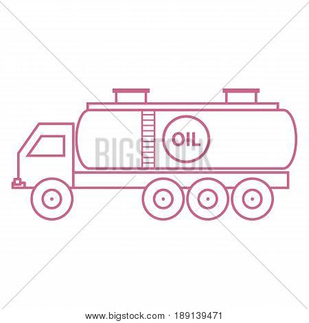 Stylized Icon Of The Oil Tanker/fuel Tanker
