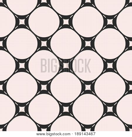 Vector seamless pattern, subtle geometric texture, circles stitches lines abstract background. Monochrome illustration of mesh perforated surface. Simple endless abstract background. Square repeat design element