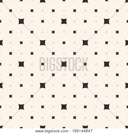 Vector seamless pattern. Modern minimalist texture, small squares tiny geometric shapes abstract background. Abstract repeat background, simple stylish design element for prints, decor, fabric seamless pattern, digital, web, covers.