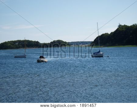 Boats In New England Harbor
