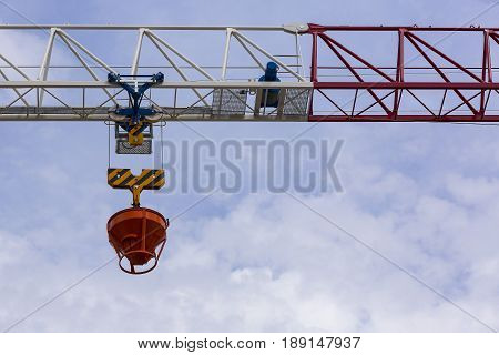 Mechanism of a crane with a hook for lifting loads