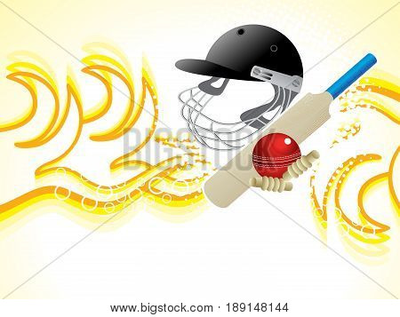 abstract cricket detailed heat background vector illustration