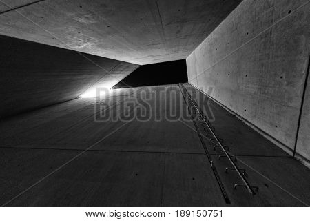 BERLIN GERMANY - APRIL 9: Holocaust tower in Jewish museum on April 9 2017 in Berlin