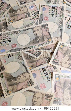 10000 Japanese Yen,  The Currency Bills. Japan Money.