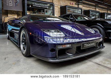 BERLIN - MAY 13 2017: Sports car Lamborghini Diablo GT 2001. Exhibition