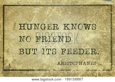 Hunger Knows Aristophanes