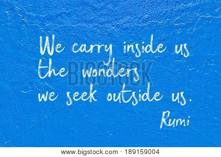 Carry Inside Blue Rumi