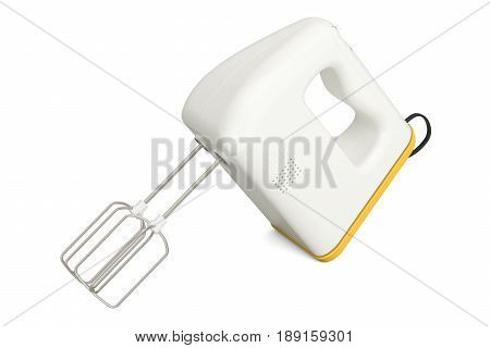 Kitchen mixer 3D rendering isolated on white background