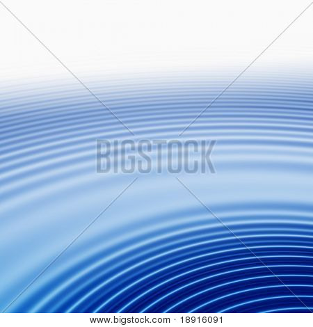 elegant abstract concentric blue ripples with highlight