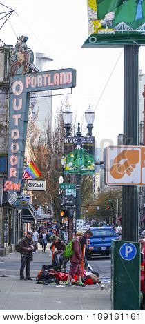 Portland Outdoor store - street view - PORTLAND - OREGON