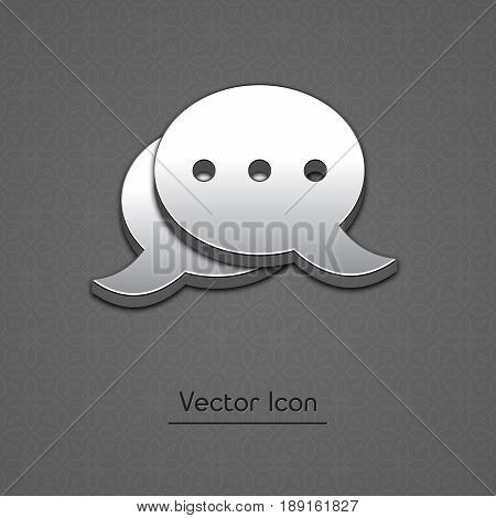Blog Icon in trendy 3d style isolated on gray background. Blogging symbol for your web site design, logo, app, UI. Vector illustration, EPS10.