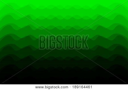 Green abstract vector background - waves , Abstract green tone background with curve lines