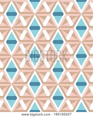 Abstract geometric pattern of angular elements. Muted tones. The structure of forms and colors.