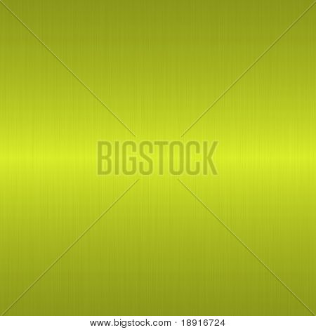 yellow green brushed metal background with horizontal highlight