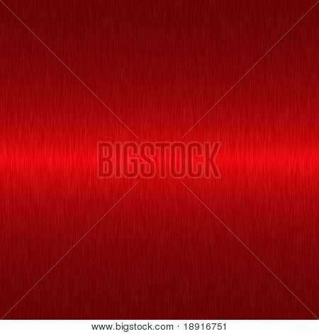 brushed dark red metallic background with central highlight