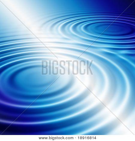 elegant blue ripples background with white lightbeam