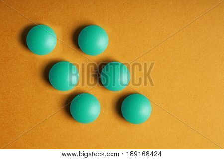 Medical Pills Vitamins On A Colored Background