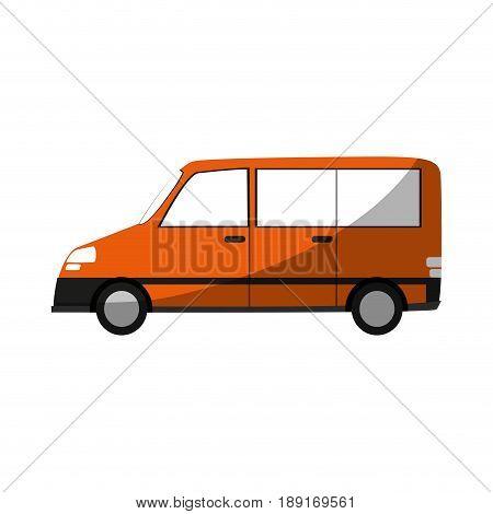 car van  sideview cartoon icon image vector illustration design