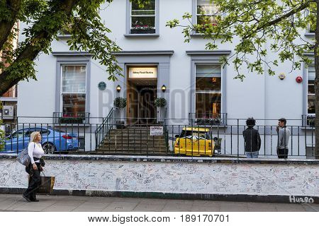 LONDON, GREAT BRITAIN - MAY 17, 2014: Abbey Road Studious is a well-known recording studio in which the famous Beatles band recorded.