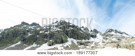 central mountain system of Spain with remains of snow