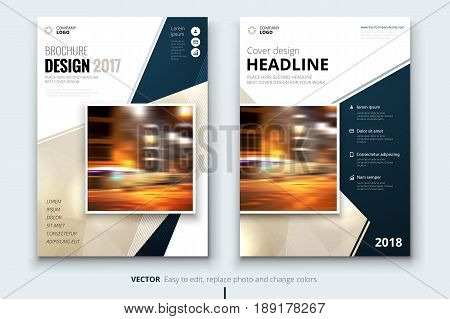 Business brochure or flyer design. Leaflet presentation. Catalog with Abstract geometric background. Modern publication poster magazine, layout, template.