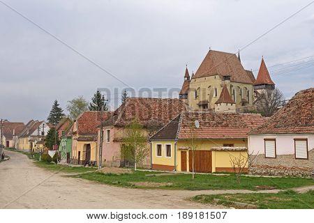 Church and Village of Biertan in Transylvania Romania