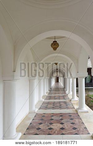 Arched in Sambata de Sus monastery in Transylvania Romania