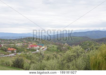 Village of Ghelari Hunedoara County Transylvania Romania