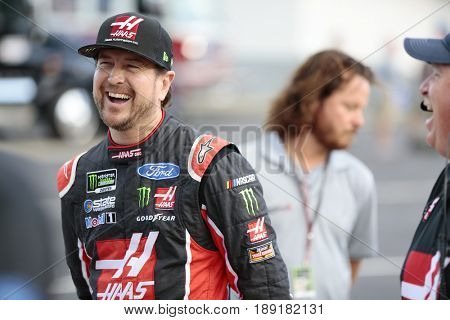 May 25, 2017 - Concord, NC, USA: Kurt Busch (41) hangs out on the grid before qualifying for the Coca Cola 600 at Charlotte Motor Speedway in Concord, NC.