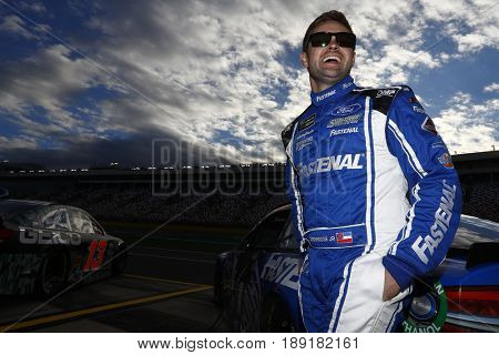 May 25, 2017 - Concord, NC, USA: Ricky Stenhouse Jr. (17) hangs out on the grid before qualifying for the Coca Cola 600 at Charlotte Motor Speedway in Concord, NC.