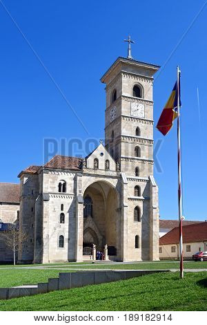 St. Michael's Cathedral in Citadel of Alba Iulia Transylvania Romania