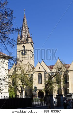 Evangelical Cathedral of Sibiu in Transylvania Romania