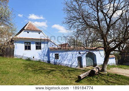 traditional Romanian village of Viscri Transylvania Romania