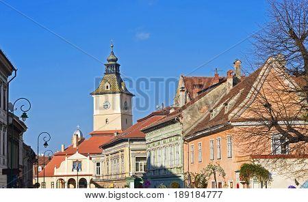 Former City Hall of Brasov called Council House (Casa Sfatului) at Council SquareTransylvania Romania