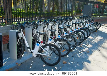 Row Of Bikes For Rent